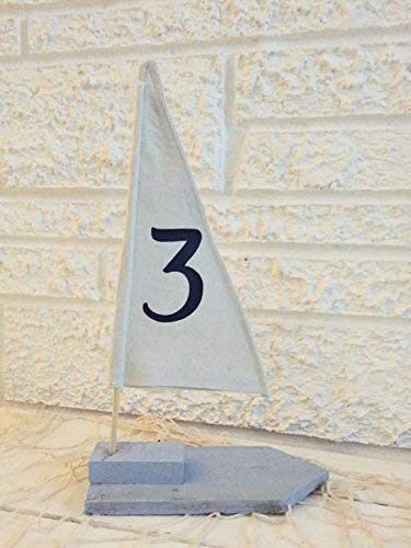 Wedding Table Number - Nautical Sailboat Table Décor by Beach Dweller Boutique - Set of 5