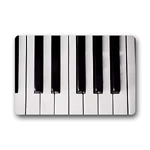 "Nymeria 19 Custom Piano Keys Indoor/Outdoor Doormat 24""x16"" For GB-538"