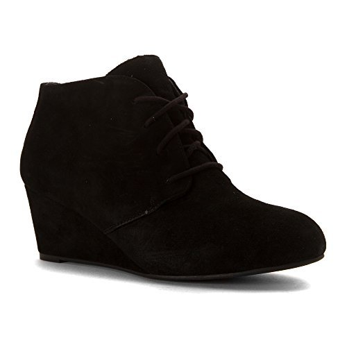 Vionic Women's Becca Wedge Bootie Black 9 W by Vionic