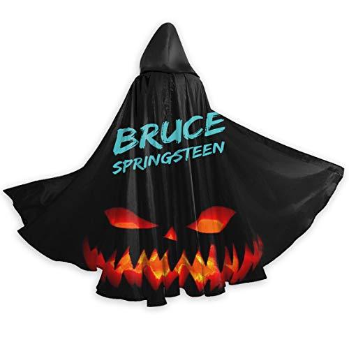 Bruce Springsteen Halloween (AgoodShop Unisex Full Length Hooded Cape Halloween - Pumpkin Bruce Springsteen E Street Band Halloween Adult)