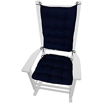 Barnett Rocking Chair Cushions   Cotton Duck Solid Color   Latex Foam Fill,  Reversible,