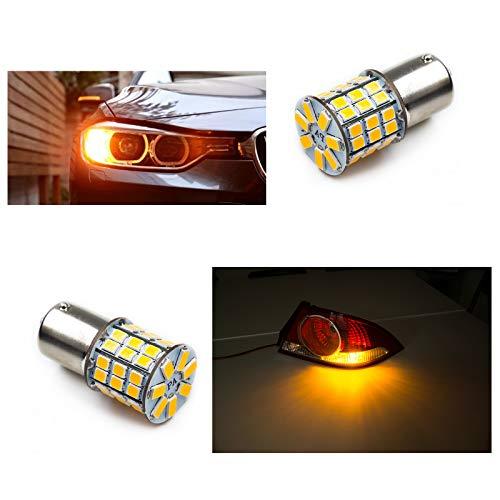 PA 2pcs One Pair LED Bulbs High Power 49SMD 2835 + 5730 Chip LED Auto Light Bulbs Brake Signal Back up (Ba15s offset pins, ()