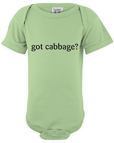 shirtloco Baby Got Cabbage Infant Bodysuit, Key Lime 12 Months