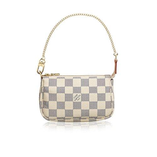 Louis Vuitton Monogram Mini - Louis Vuitton Damier Azur Canvas Mini Pochette Accessoires N58010 Made in France