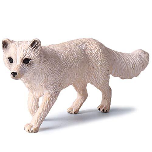 Kolobok - Safari Animals Action Figures - Arctic Fox - Polar Animals Zoo
