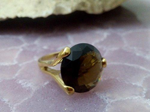 (Smoky Quartz ring,gold ring,cocktail ring,Smokey Topaz ring,gemstone ring, birthstone ring,brown ring,bridal ring)