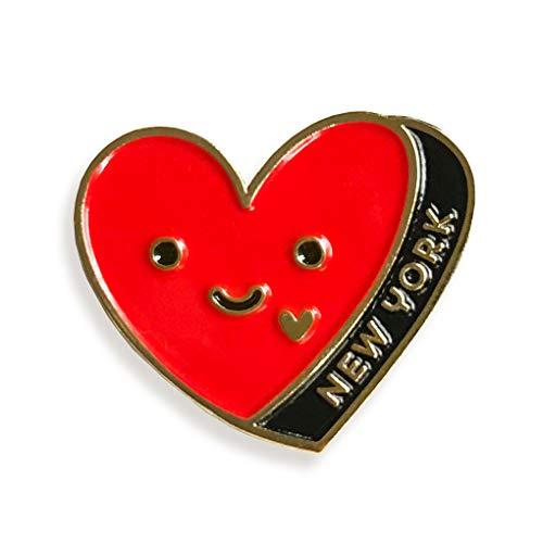 Night Owl Paper Goods New York Heart Enamel Pin, Gold