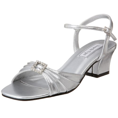 Touch Ups Women's Shala Sandal,Silver,5 M (Touch Ups Mid Heel Sandals)