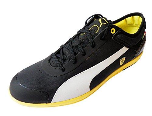 Puma Men's Driving Power Light Low SF Ferrari Shoe, Black/White/Team Jordan Yellow - And Ferrari Yellow Black