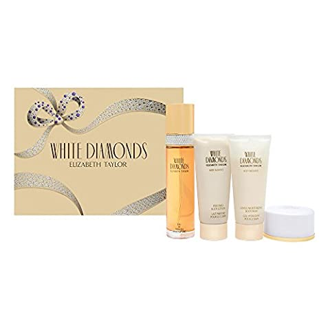 White Diamonds Gift Set by Elizabeth Taylor - Elizabeth Taylor Rose Body Lotion