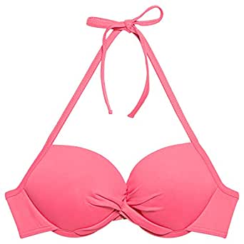 Kiwi Saint-tropez Bikini Top Rachel Croise Savane,pink Pasteque