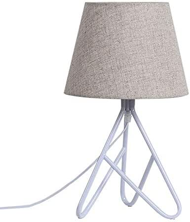 Creative Macaron Table Lamps Fabric Living Room/Bedroom/Bedside Table Wrought Iron Trigeminal Lights (Color : Brown)