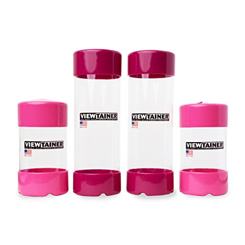 Viewtainer Slit-Top 4-Pack - 2.75'' (Pink/Raspberry) by Viewtainer