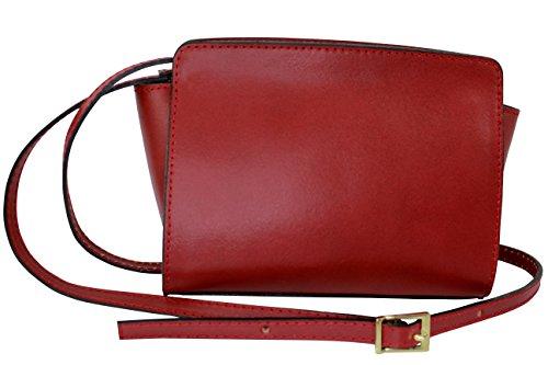 Foncé femme coloris sac Rouge Petit plusieurs Italie CHLOLY Margaritta cuir q6OSCSzw