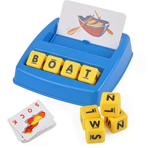 Mayco Bell Board Games Baby Toys English Spelling Alphabet Letter Game Early Learning Educational Toy Kids Language Teaching Education Toy [並行輸入品] B07SC5ZNMJ