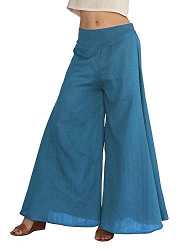 Aisuper - Pantalón - Pantalones Boot Cut - para mujer Azul