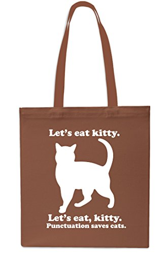 Bag Sapphire litres Let's Chestnut Shopping Cats Gym Kitty Tote 10 Eat Small 42cm Saves x38cm Punctuation Beach SCwxqOZCzr