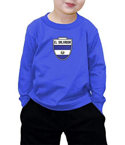 HAASE UNLIMITED El Salvador Salvadorian - Soccer Long Sleeve Shirt (Royal Blue, (Club America Long Sleeve Jersey)
