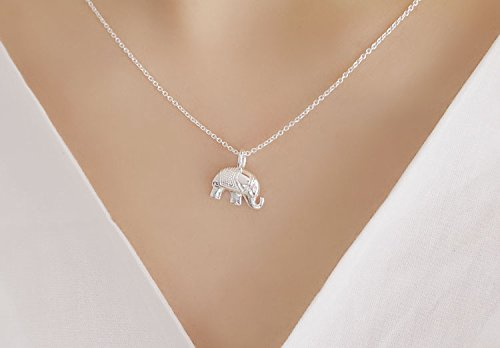 Generic S925 silver necklace Thai Elephant cartoon animal cute little elephant necklace pendant necklace clavicle chain gift