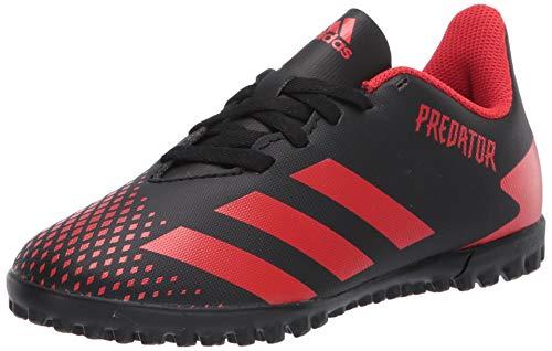 adidas Kids' Predator 20.4 Turf Soccer Shoe, core Black/Active red/core Black, 4.5