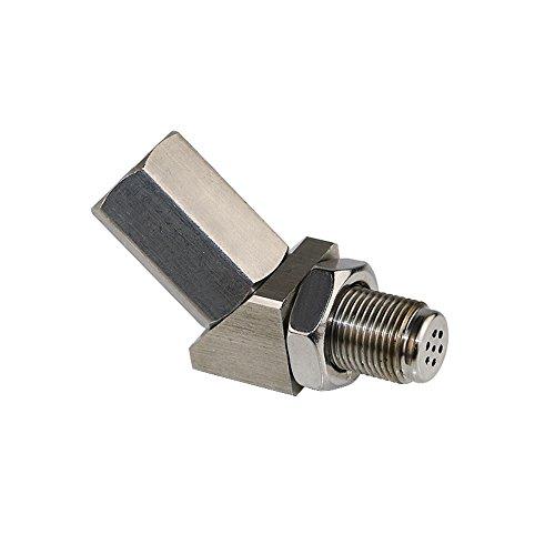 Jzz Cozma Universal Stainless Steel 135 Degree O2 Oxygen Sensor Adapter Extender for Catalyst -