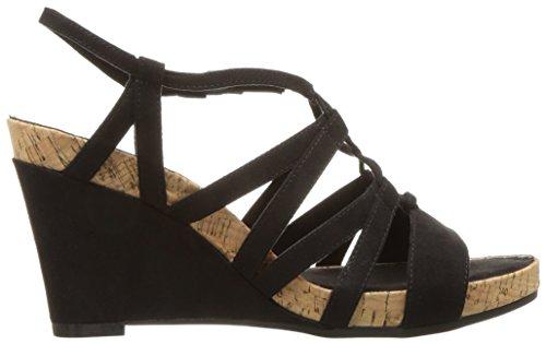 Women's Sandal Aerosoles Wedge Plush Poppy Black AddqZ