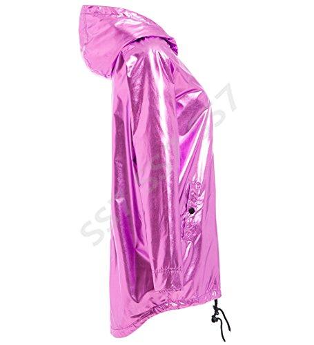 métallisé pluie de pour imperméable violet Ss7 Rain femmes Mac Veste a0Hqpw5q