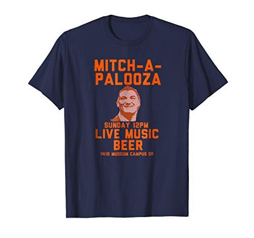 MITCH-A-PALOOZA Blue and Orange T Shirt