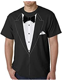 "Tuxedo Tees - ""The Classic"" Black Tie Tuxedo T-Shirt #19 (Mens XXX-Large, Black)"