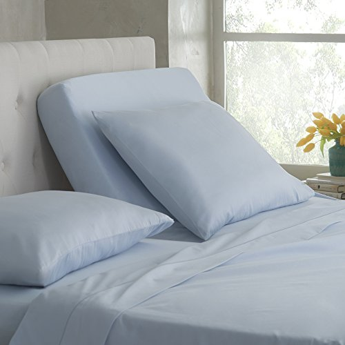 Martex Split King Sheet Set for Mattresses with Adjustable Bases, Ballad Blue, 5 Piece ()