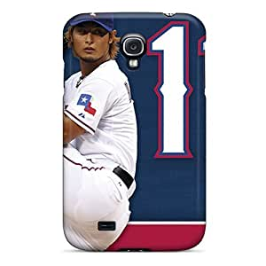 Perfect Hard Cell-phone Cases For Samsung Galaxy S4 With Customized Stylish Texas Rangers Pattern JamieBratt