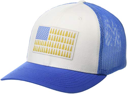 Columbia Men's Standard Mesh Tree Flag Ball Cap, White, Small/Medium