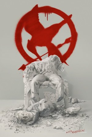"""The Hunger Games: MockingJay Part 2 (2015) Movie Poster, 12 x 18"""" Inches - Theater Quality (THICK 8 Mil) - Jennifer Lawrence, Josh Hutcherson, Liam Hemsworth"""