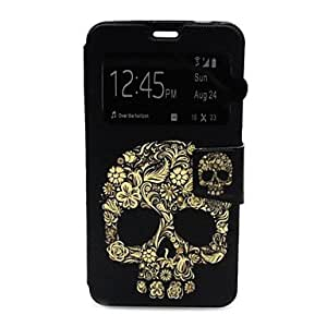 Skull Pattern Leather Case with Stand for Samsung Galaxy S5 I9600