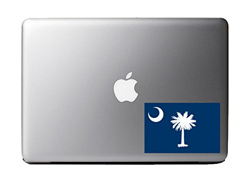 South Carolina Pride State Flag - Full Color 5 Inch Reflective Decal for Macbook, Laptop or other device