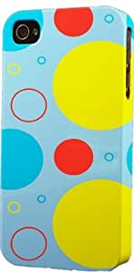 MMZ DIY PHONE CASEColorful Circle Pattern Dimensional Case Fits Apple ipod touch 5