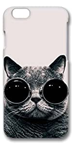iphone 6 case, Cat With Glasses Unique Custom Hard Case Cover for iphone 6 4.7 inch