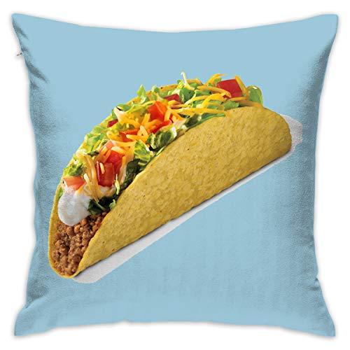 Karen Felix Throw Pillow Covers Food - Taco Bueno Decorative Cushion Case for Sofa Bedroom Car 18 X 18 Inch 45 X 45 -