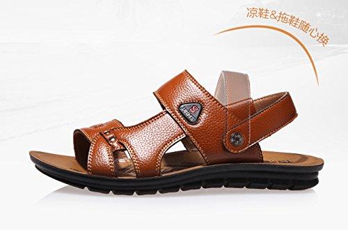 De Los Playa De Nuevos Casuales A Cuero Verano Zapatos Cuero De De De Zapatos Hombres 2018 Perforados Sandalias WKNBEU Transpirables Sandalias 7wqXxSgPq
