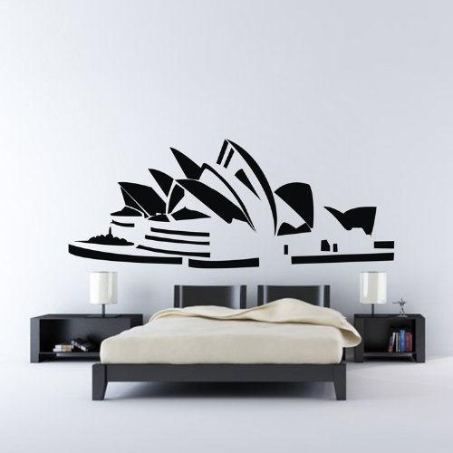 Fashion Building Art Style Sydney Opera House Vinyl Art Wall Sticker Decorative Decals Living Room Decor Wall Paper - Style Sydney Fashion