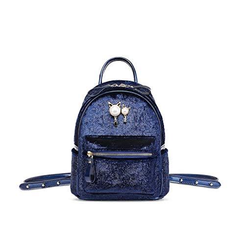 The rugzak 5x24 Casual maat blauw schoudertas Qxjpz 20x10 dames Blauw kleur voor 5cm Tide Small versie Mini Koreaanse 0WHvqFW