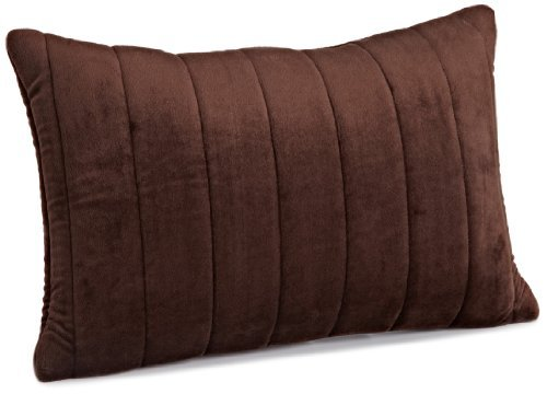 Brentwood Quilted Plush Memory Foam 13 by 18-Inch Pillow, chocolate by Brentwood by Brentwood