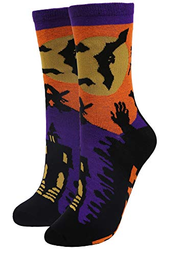 Women's Crew Socks Trick Treat Funny Casual Cotton Socks