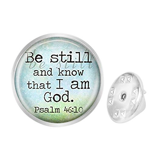 Custom Lapel Pin Brooches Religious Be Still and Know That I Am God Banquet Badge Pins Trendy Accessory Jacket T-Shirt Bag Hat Shoe ()