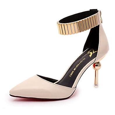 Amazon.com   San Hojas Metal Ankle Starp Pointed Pumps Thin Heel