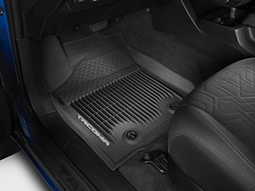 Genuine Toyota Tacoma All-Weather Floor Liners PT908-36163-20. Black 3 Piece Set. 2016 Tacoma Access Cab w/Manual Trans.