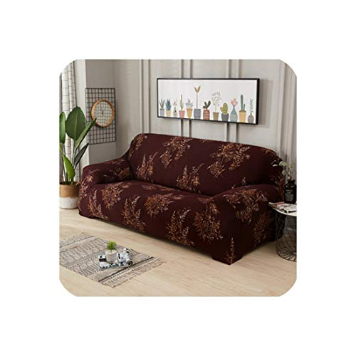 Sunjinjing Big Rose Elastic Sofa Cover Stretch Sectional Couch Cover Sofa Slipcovers Sofa Covers for Living Room Housse Canape 1/2/3/4 Seat,Color 6,4-Seater 235-300Cm ()