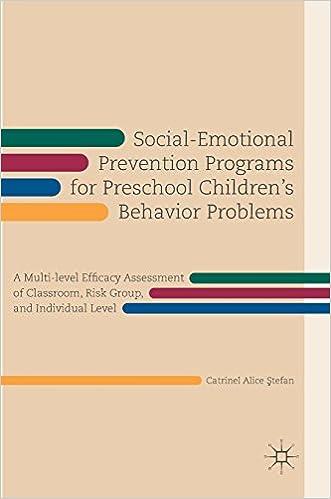 Social And Emotional Problems Related >> Amazon Com Social Emotional Prevention Programs For Preschool