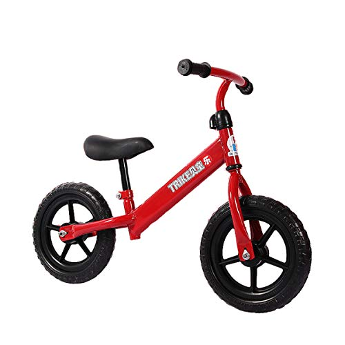 12 Inch Kids Balance Bike with Footrest for 1-5 Years Girls & Boys, Push Bike for Toddler with EVA Foam Tire, (Blue, White, Red),Red