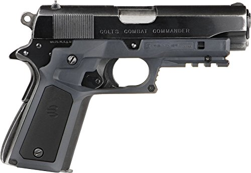 Recover Tactical CC3P Grip and Rail System with Changeable Panels for the 1911 (Phantom Grey with 2 sets of grip panels)